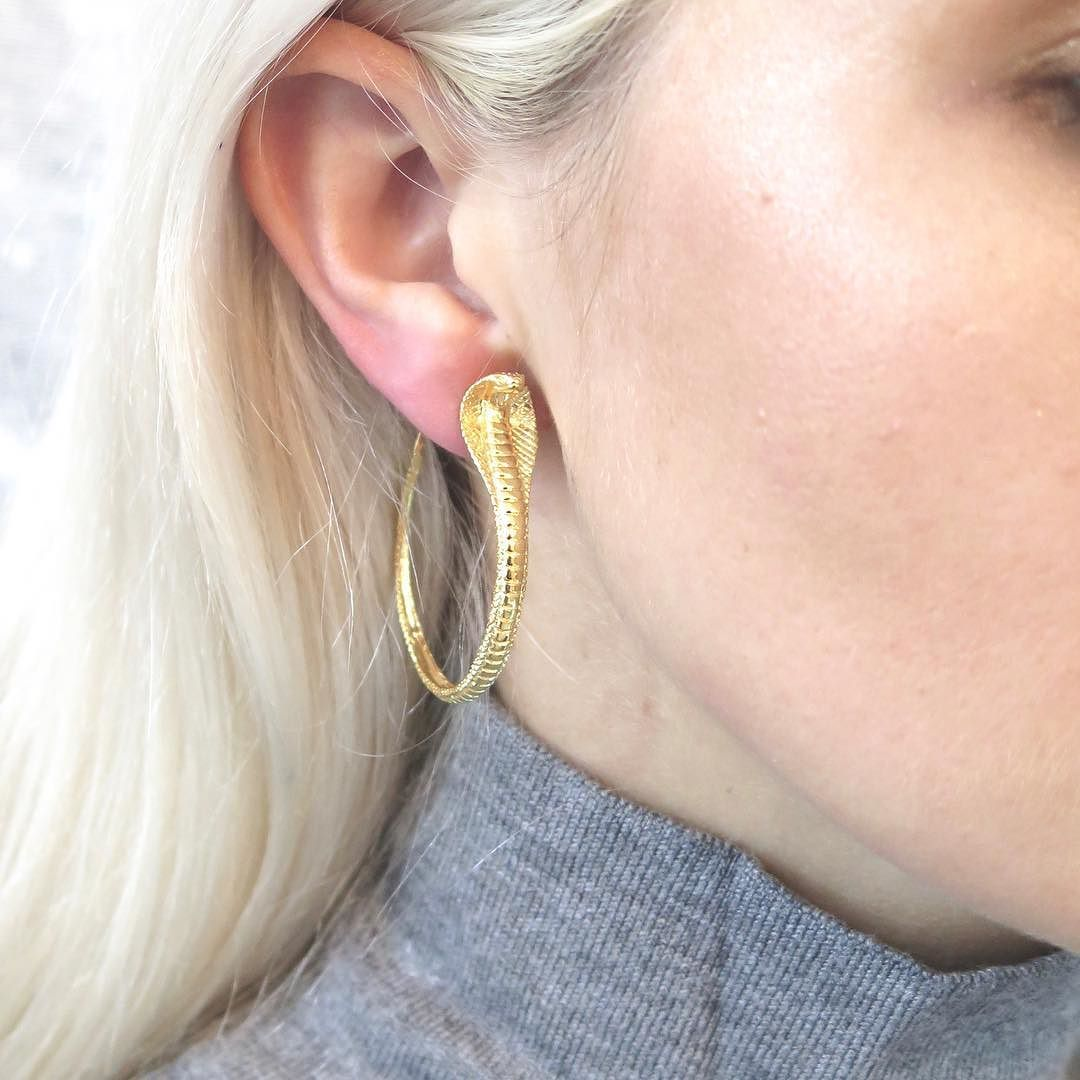0630fcf69 The protect me hoop earrings an ancient symbol of protection mysticism and  transformation. The cobra was the centre price on Cleopatra crown .