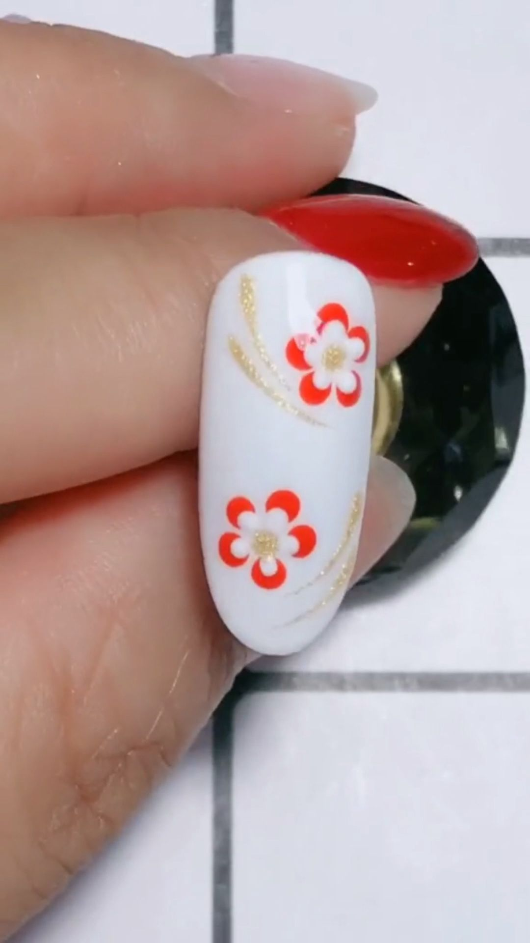Photo of Simple nails art design video Tutorials Compilation Part 112 #christmasnailartde…
