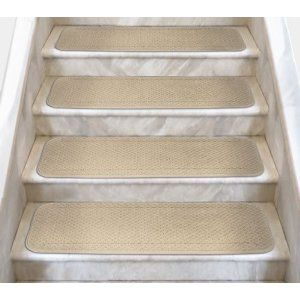 12 Attachable Carpet Stair Treads Ivory Cream Several Other Sizes To Choose From Carpet Stair Treads Carpet Stairs Indoor Carpet