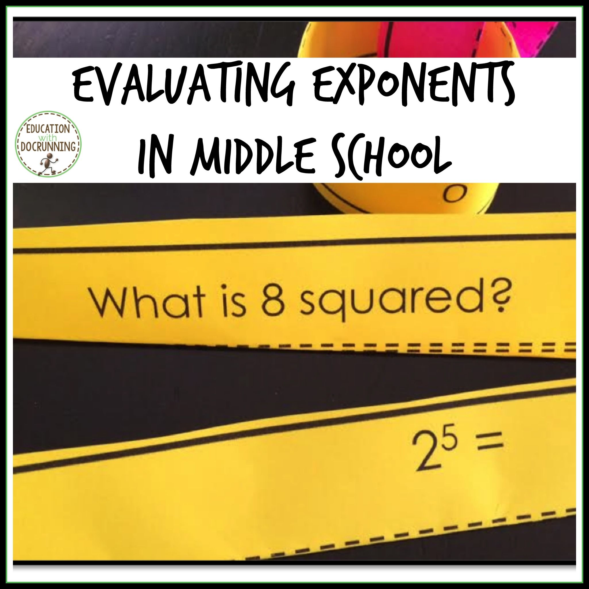 Math Worksheet Exponents Grade 7