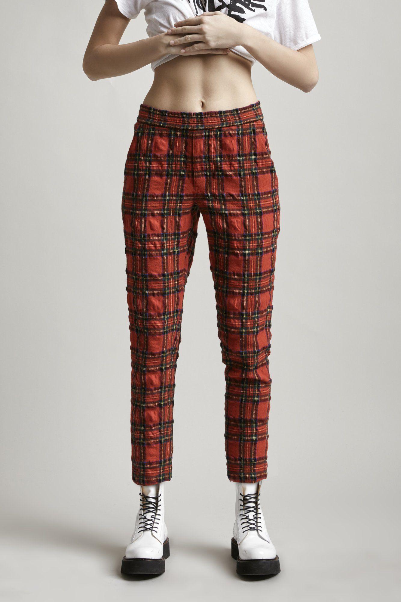 740a296e490 PJ Pant - Red Tartan Red Plaid Pants