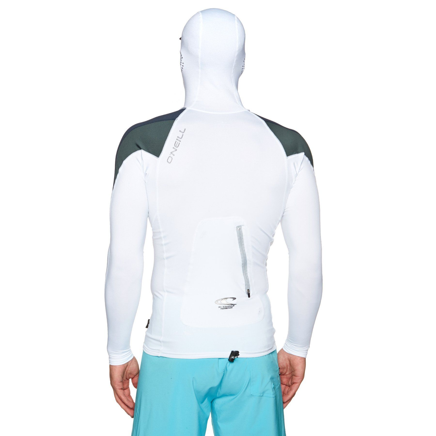 8b756502eb Canoeing - O Neill Skins Ozone Long Sleeve Hooded Rashguard Large Wht slate  reef   You can learn more details at the web link of the photo.