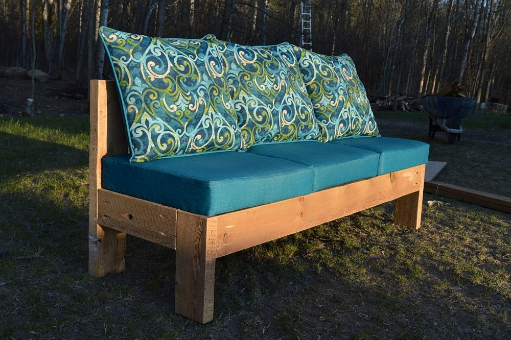 How to build a DIY outdoor sectional couch Outdoor