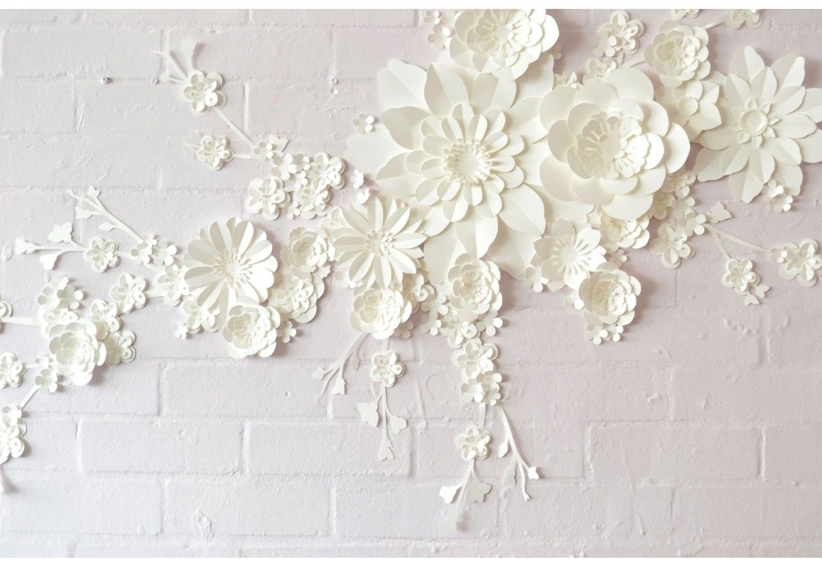 Handmade paper blossom wall decoration backdrop wall decorations
