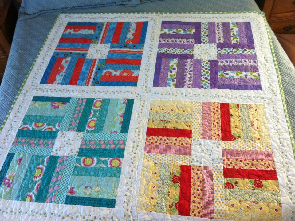 scrappy color themed quilt. Free pattern at shopmartingale.com