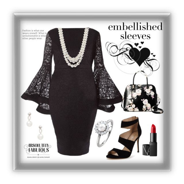 """""""The Sleeves"""" by freida-adams ❤ liked on Polyvore featuring Carvela, Kate Spade, NARS Cosmetics, Anne Klein, Inner Circle Jewelry, polycontest and embellishedsleeve"""