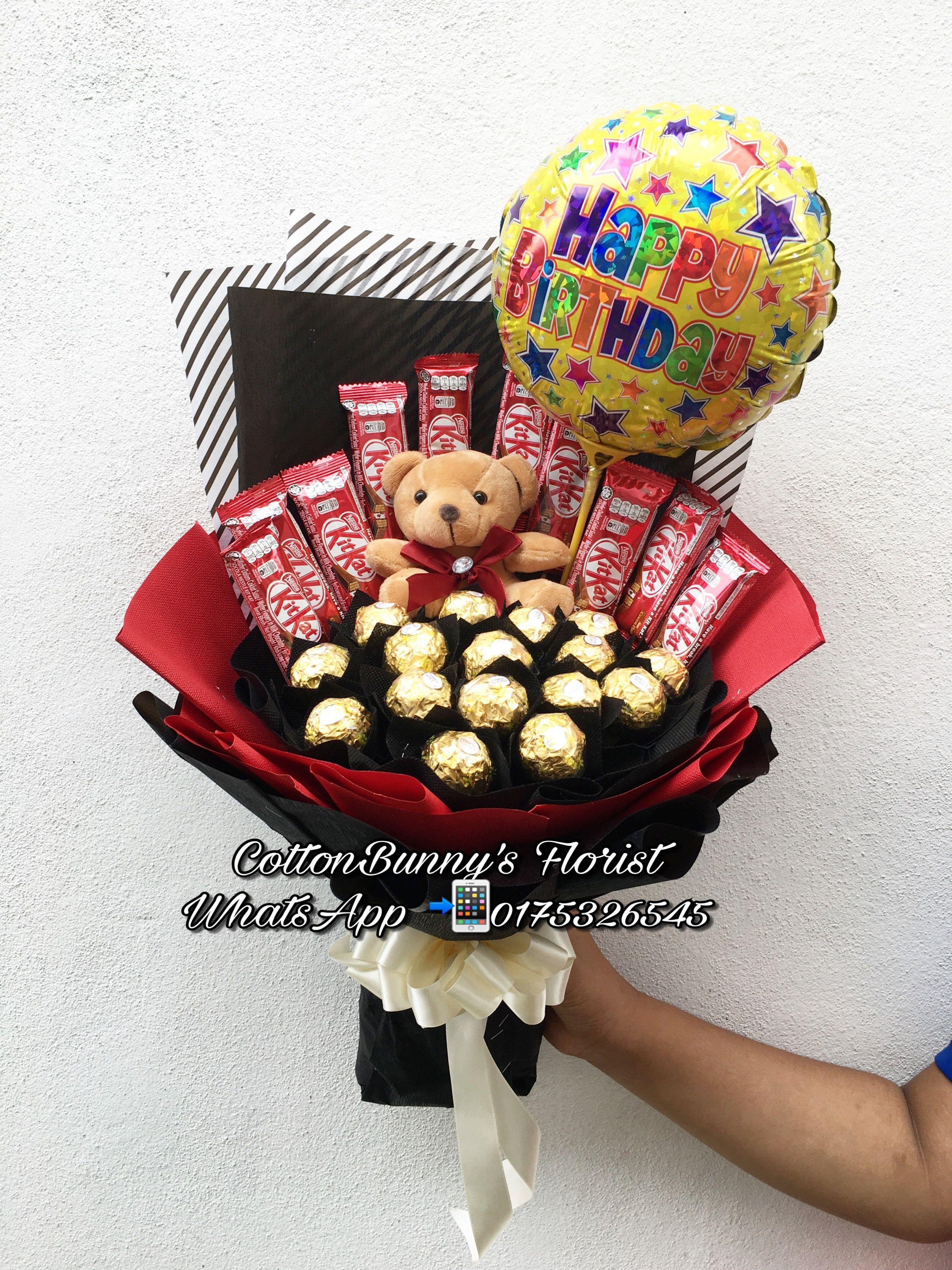 Ferrero rocher bouquet kitkat bouquet balloon regalos de