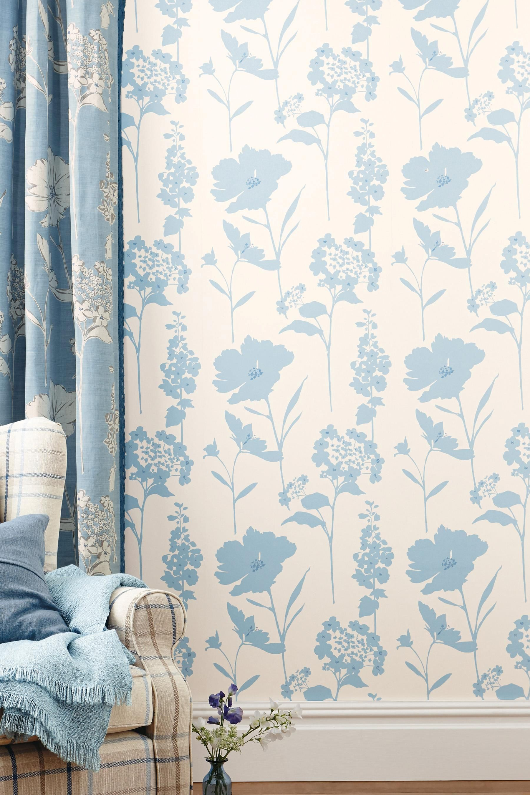 Buy country floral wallpaper from the next uk online shop buy powder blue country floral print eyelet curtains online today at next rep of ireland sisterspd