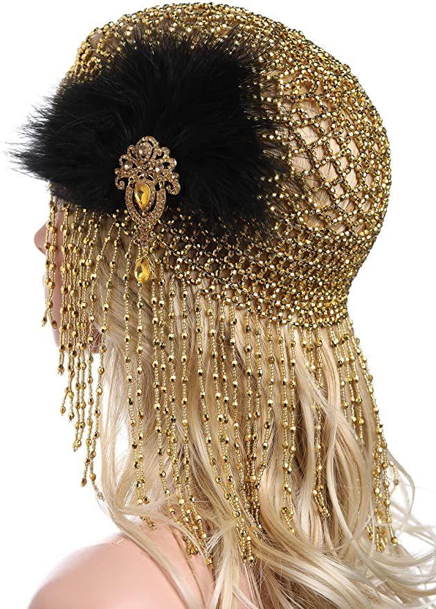 Photo of 1920er Flapper Stirnband, Gatsby Kopfbedeckung, Perücken