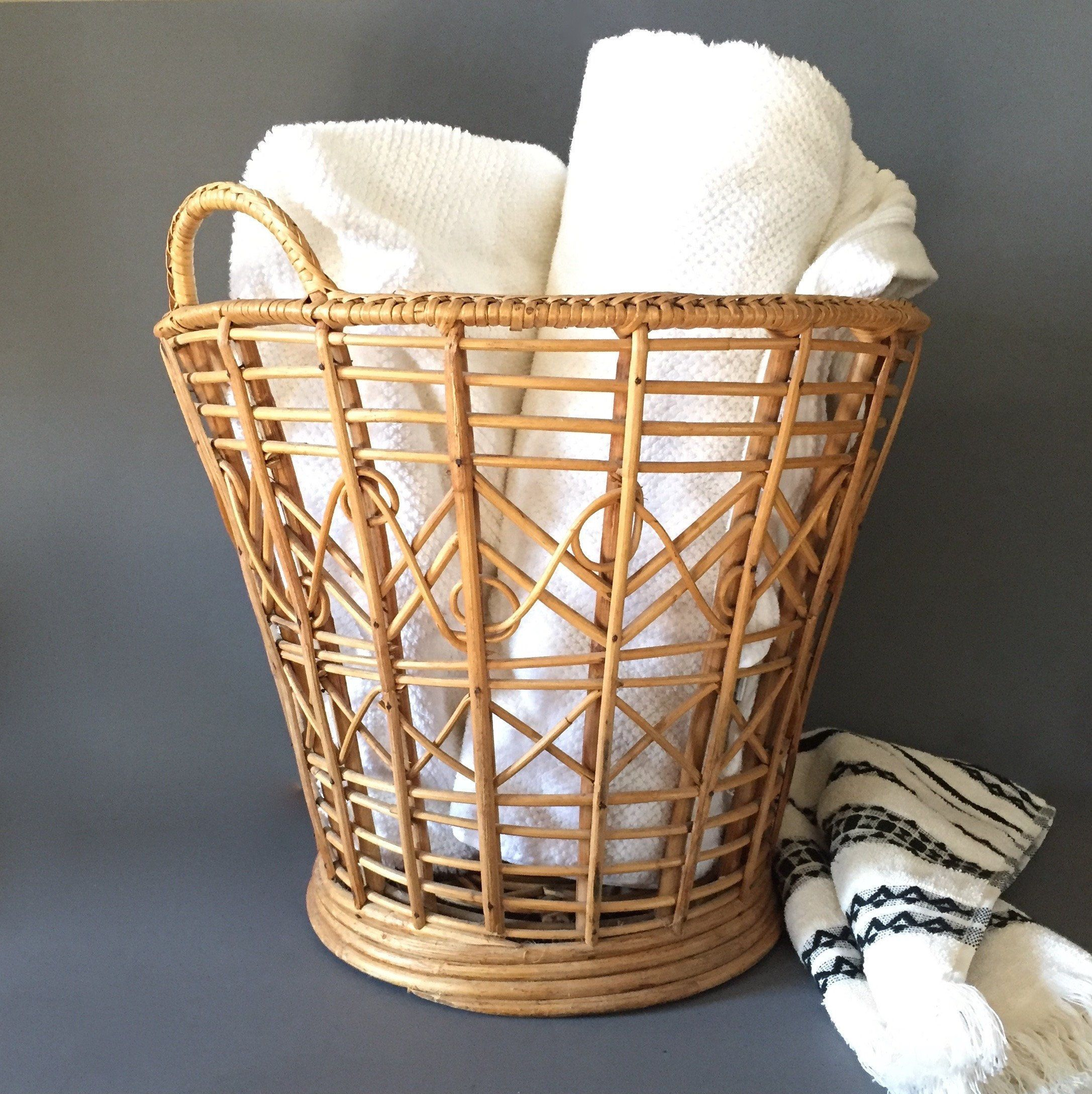 Plant Basket Towel Holder Boho Decor Towel Holder Boho Decor Plant Basket