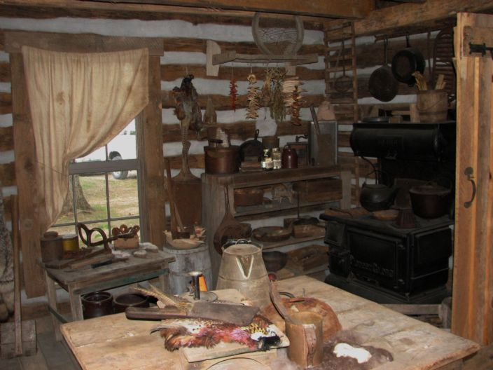 Old Trapper Cabins Area Inside Trappers Cabin Inside