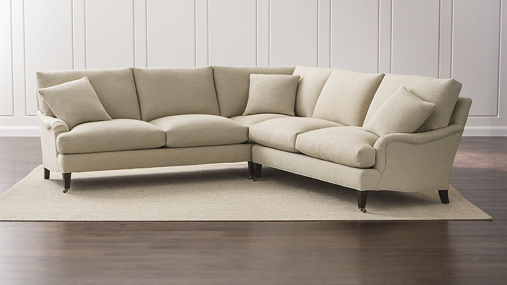 Essex 2 Piece Sectional Sofa With Casters | Crate And Barrel