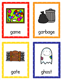 Things that Start with G Cards - Alphabet Printables | Flashcards for kids, Letter flashcards ...