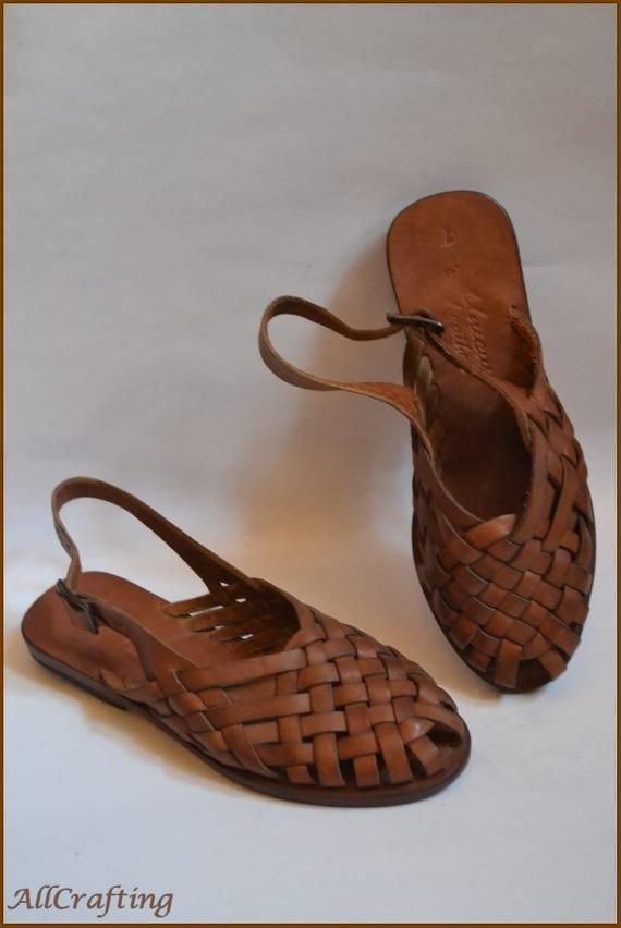 337ab4e53d16 Brown Leather Sandals