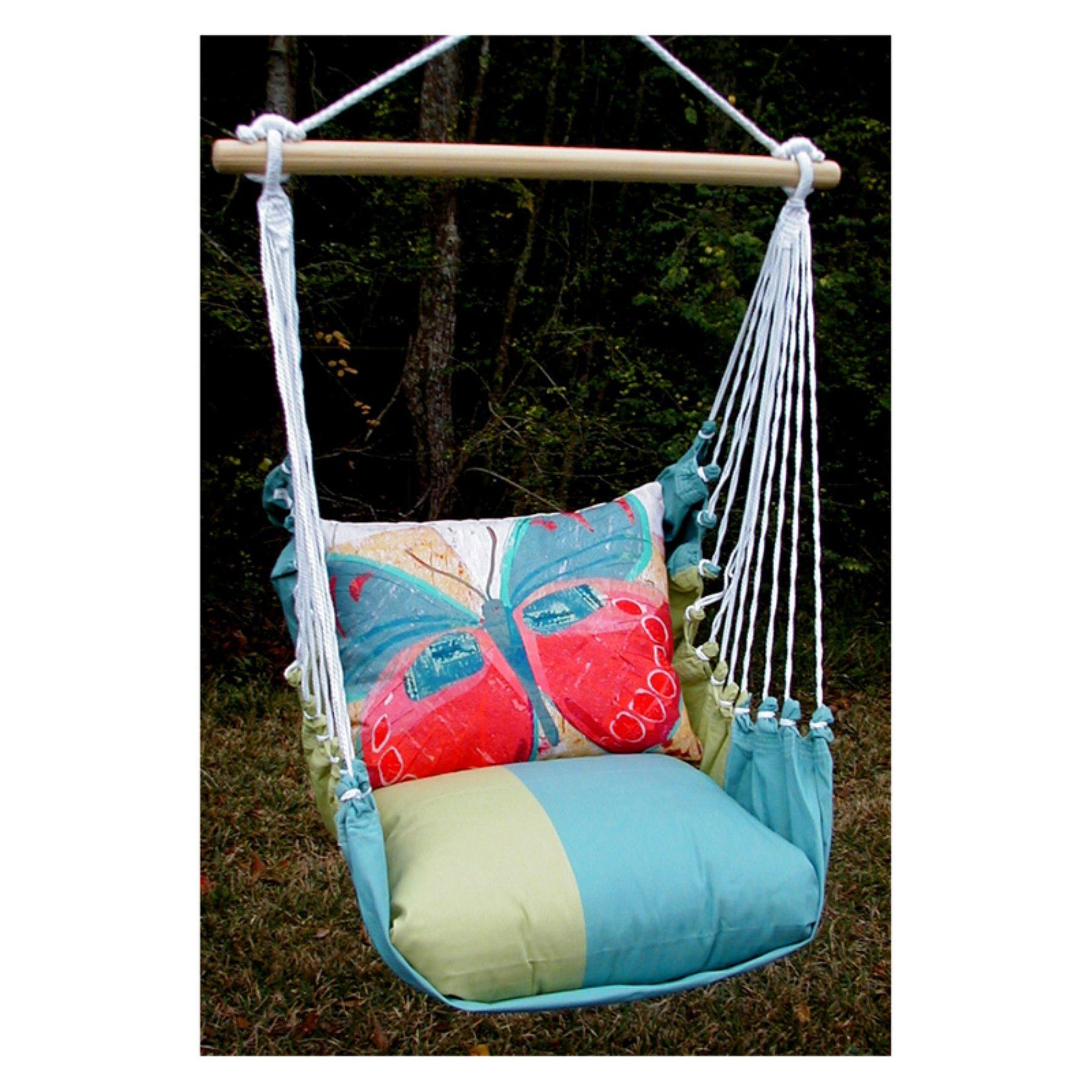 Outdoor Magnolia Casual Paper Butterfly Hammock Chair And Pillow Set