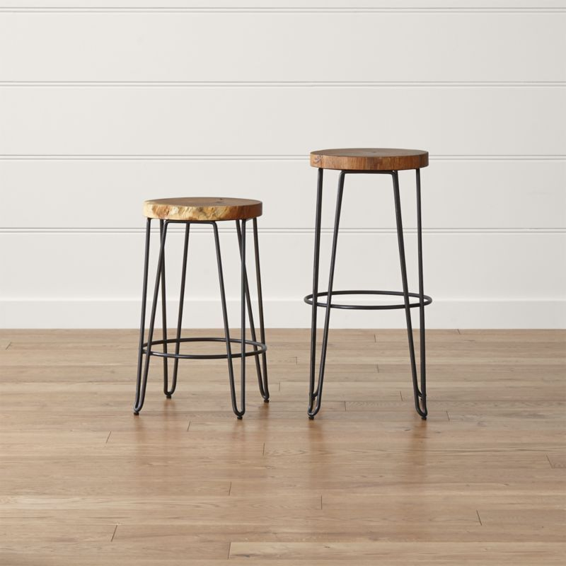 Origin Backless Bar Stools Crate And Barrel In 2020 Backless