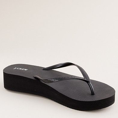 87a442277 jcrew wedge flip flops - a must! my favorite shoe....