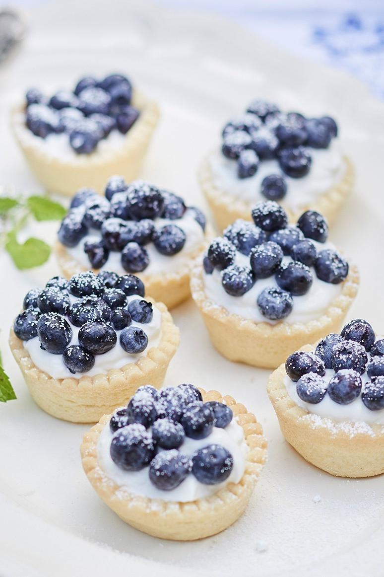 Lecker: Rezept für sommerliche Blaubeerquark-Törtchen - Bild 7 #cinnamonsugarcookies