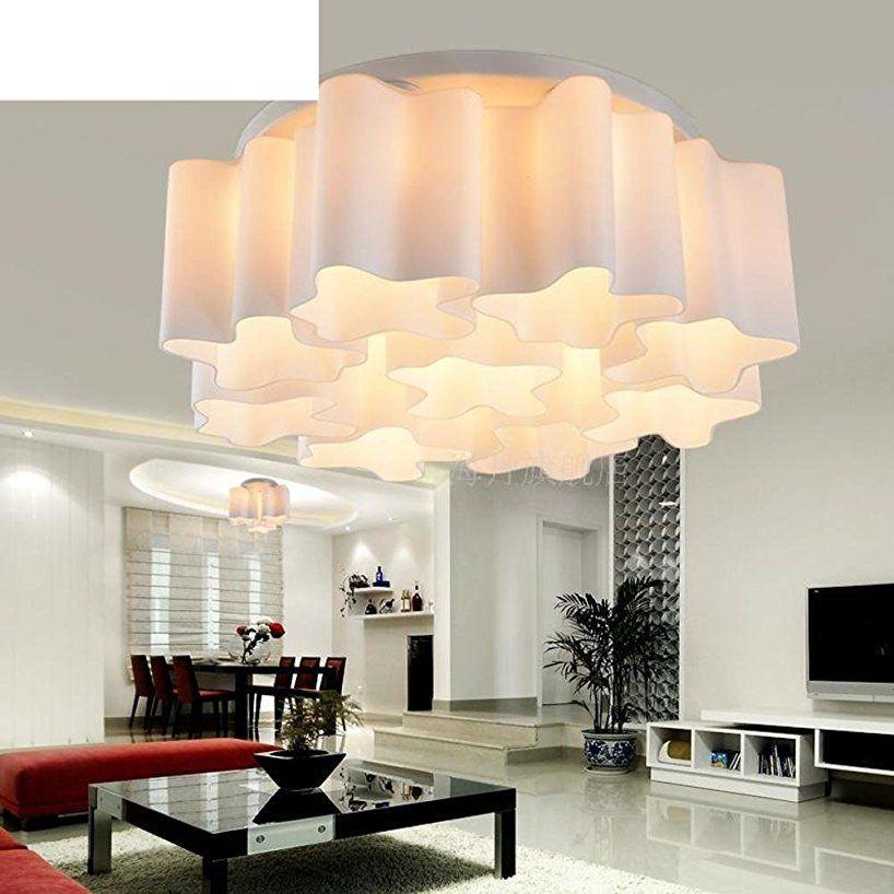 Lumi¨re Moderne Simple Plafond Du Salon Nuage La Lampe En Verre Les
