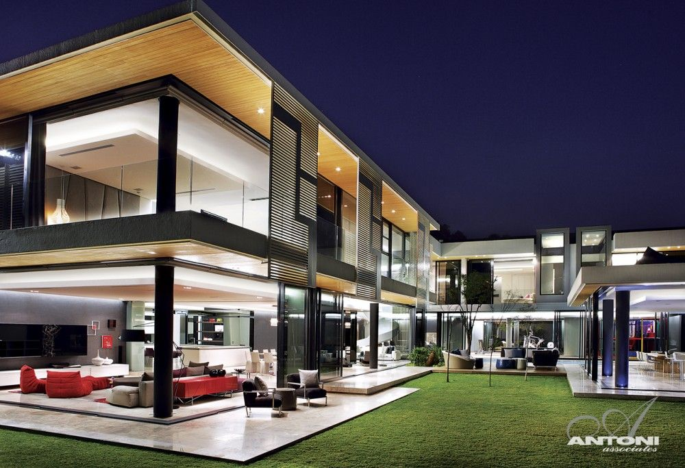 Apartment Complex modern | The living spaces, kitchen and private garden are to the north, while ...