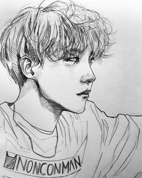 Line Art Kpop : Kpop arts ʕ ᴥ ʔ 千卂几卂尺ㄒ pinterest bts and fanart