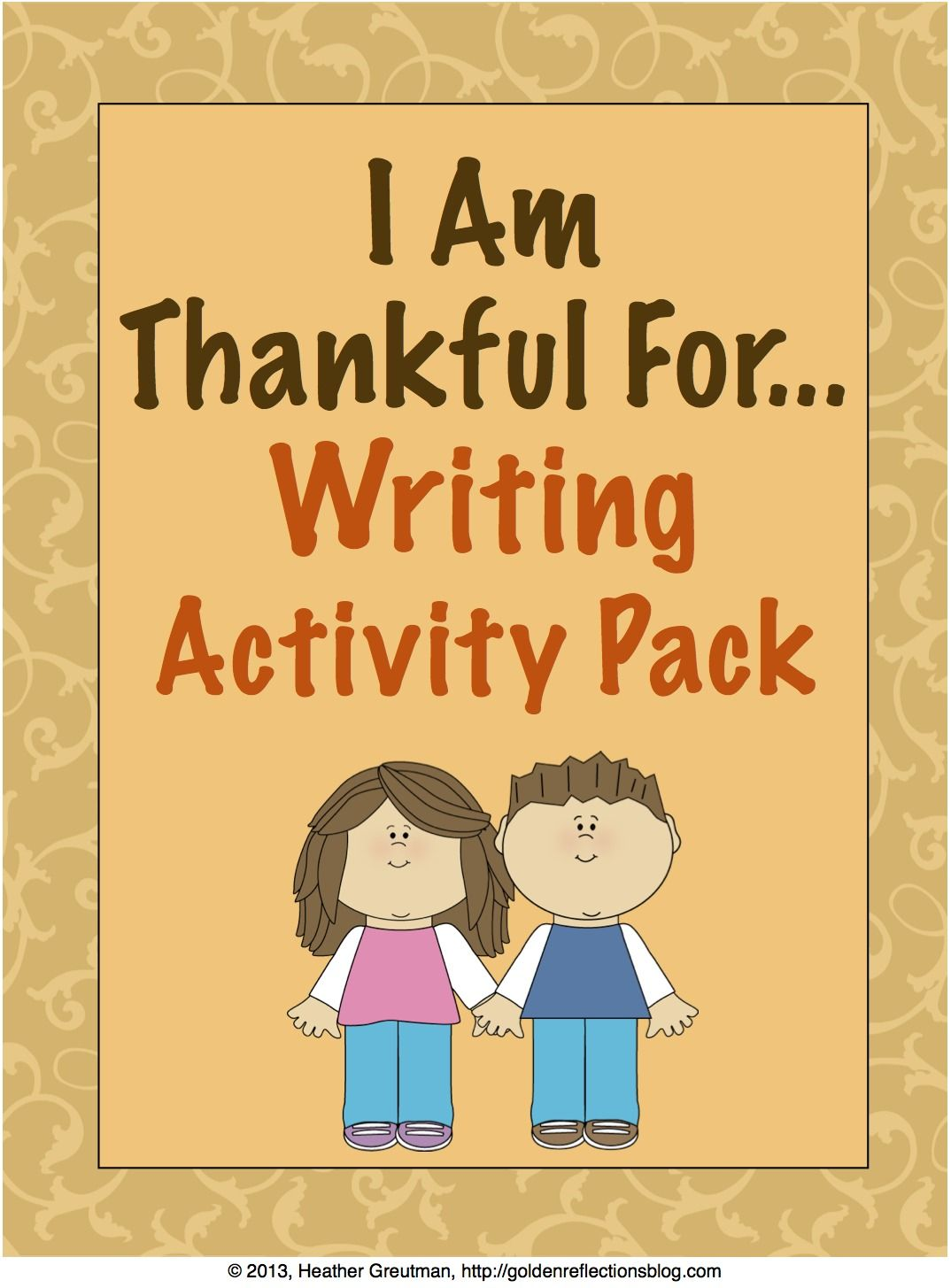 I Am Thankful For Writing Activity Printable