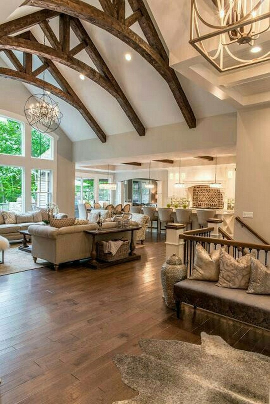 Bon Vaulted Ceiling With Wooden Beams. This Is What I Would Like To See Done In  The Farm House. I Love The Beams And The Vaulted Ceiling And The Large  Windows
