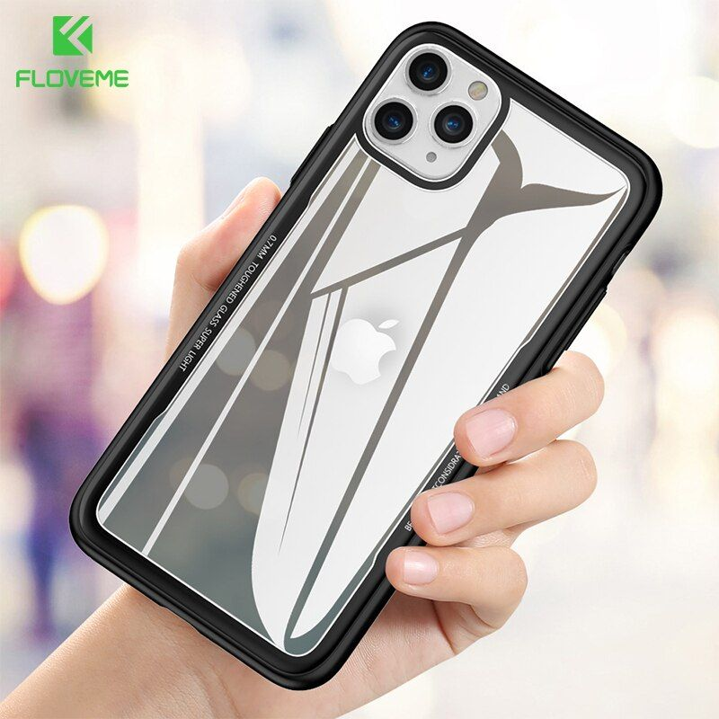 Floveme Glass Case For Iphone 11 Pro Max Transparent Protective Tempered Glass Case For Iphone 7 8 Cover For Iphone X Xr Xs Max In 2020 Iphone Iphone Cases Iphone 11