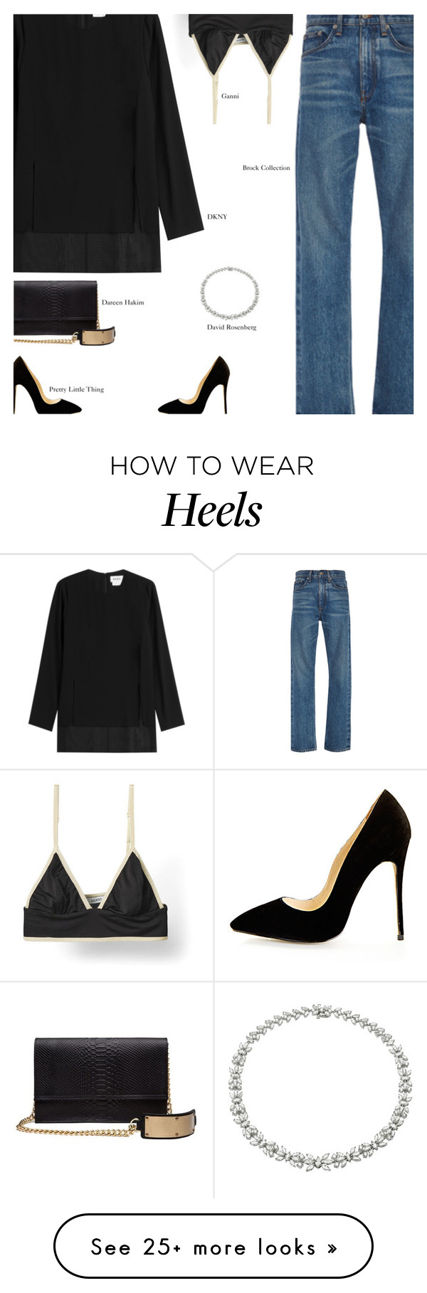 """""""Friday"""" by amberelb on Polyvore featuring Brock Collection, DKNY and Dareen Hakim"""