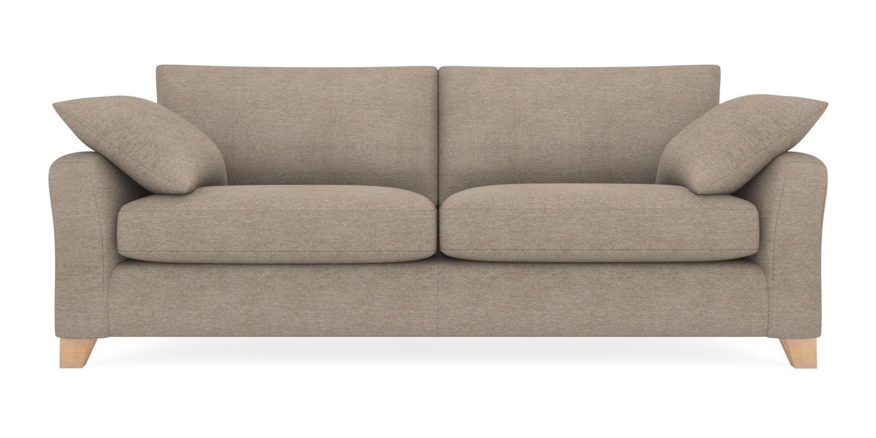 Buy Alexis Extra Large Sofa (4 Seats) Soft Marl Dark Mink Low ...