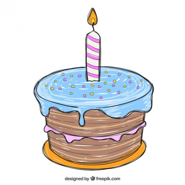 Hand Drawn Birthday Cake Free Vector Hand drawn Birthday cakes