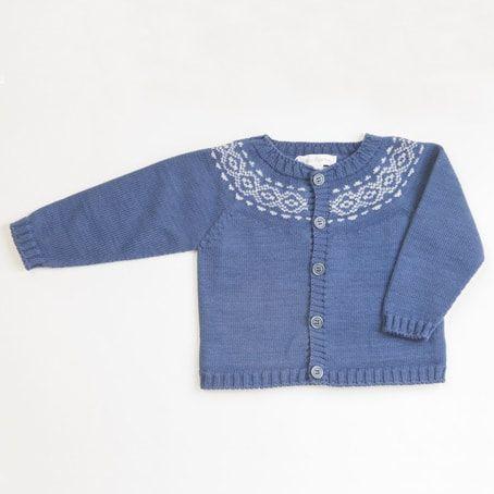 d1cf02bf3f99 Fina Ejerique Blue Knit Cardigan