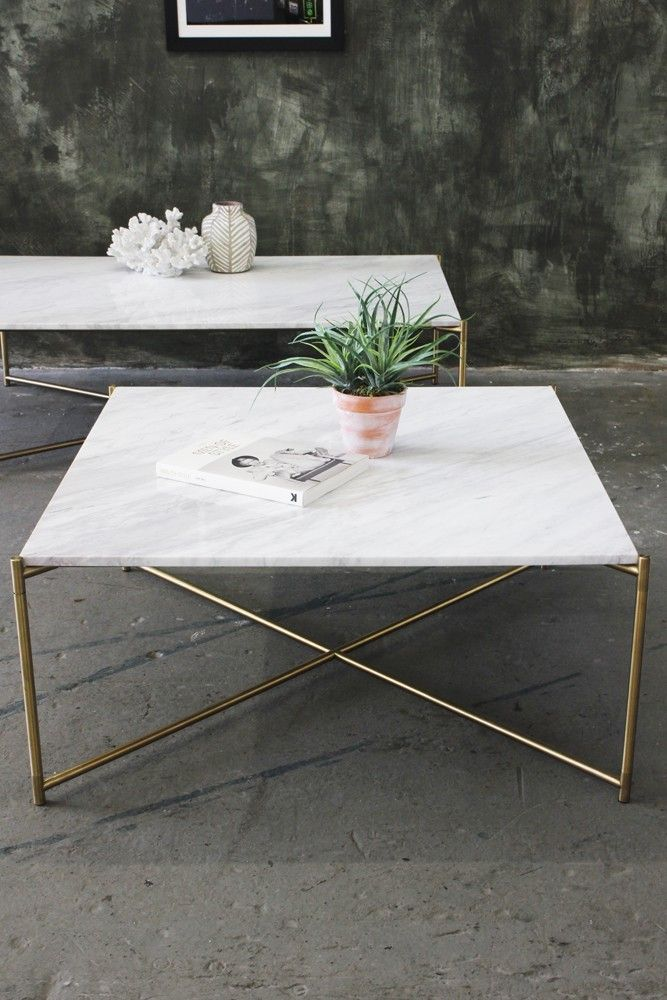 Beau Carrara Marble Coffee Table   Square White   View All   Furniture