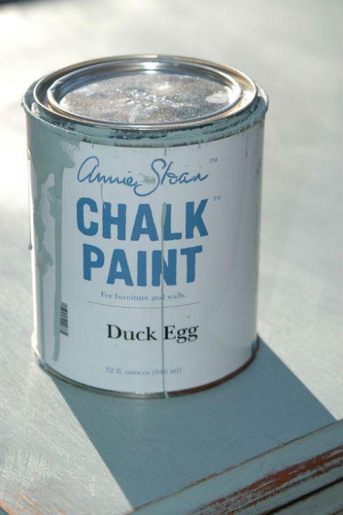 La peinture à la craie Chalk paint, Sous sol and Annie sloan