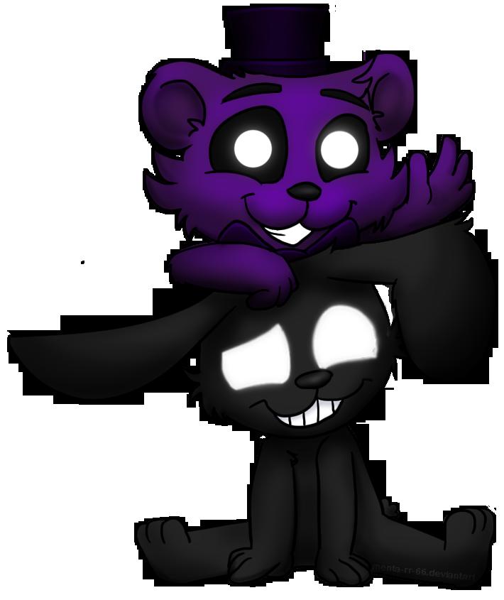 Shadow Freddy and shadow Bonnie