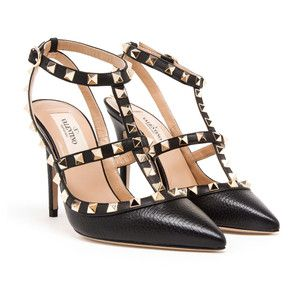 shoes heels, Leather high heels
