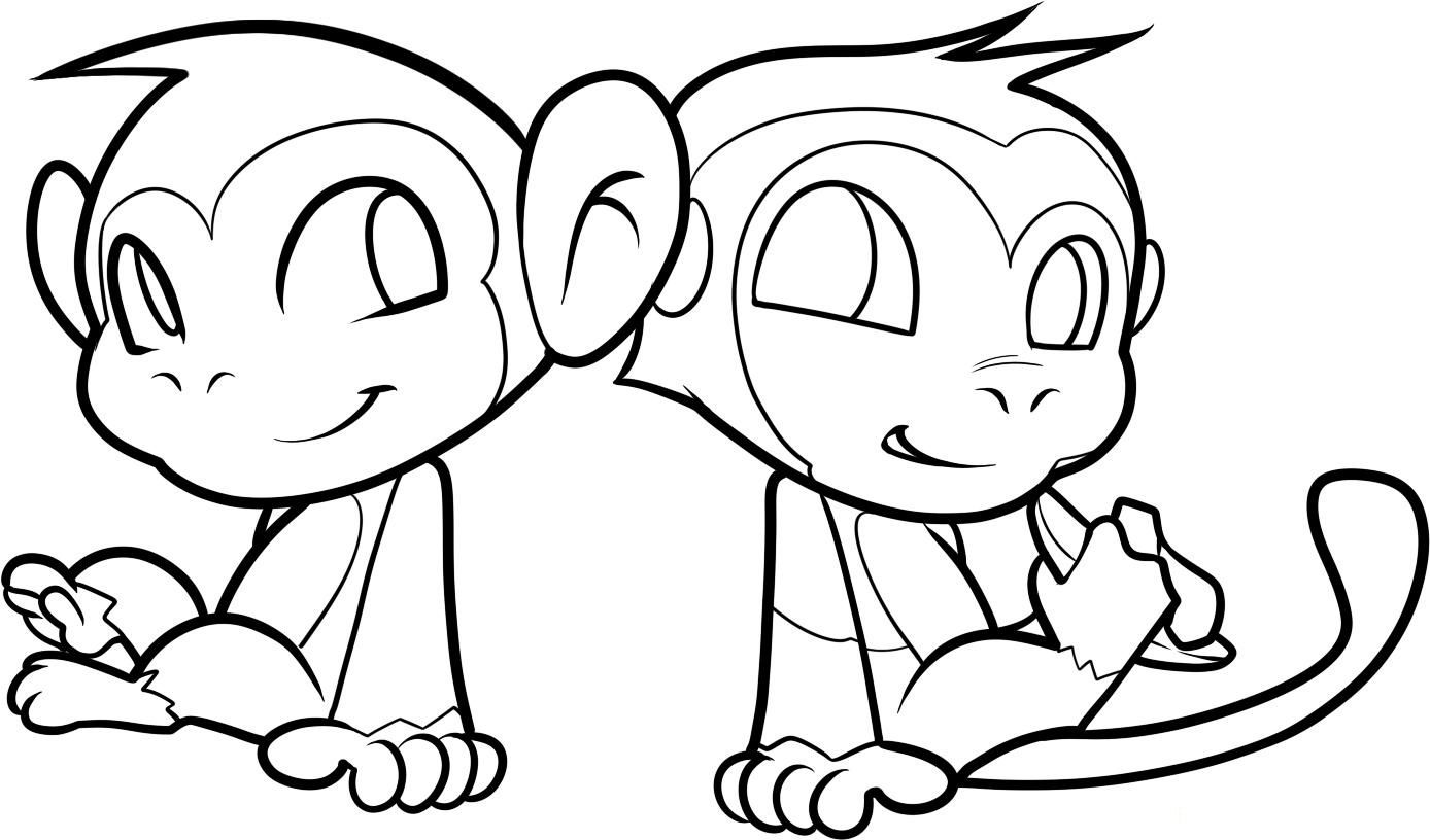 http://colorings.co/baby-girl-monkey-coloring-pages/ | Colorings ...