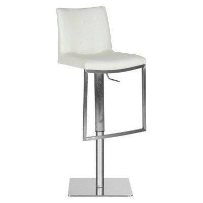 Fine Ember Adjustable Barstool White Safavieh Products Lamtechconsult Wood Chair Design Ideas Lamtechconsultcom