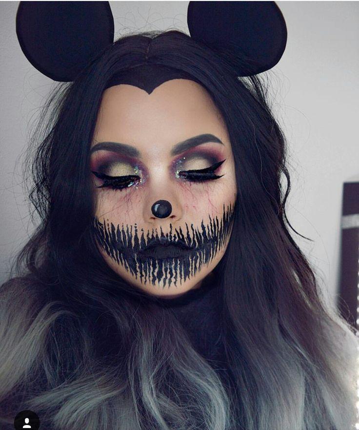 Eine tolle Idee für ein Halloween-Gesicht. gab mir nur eine#BeautyBlog #MakeupO…