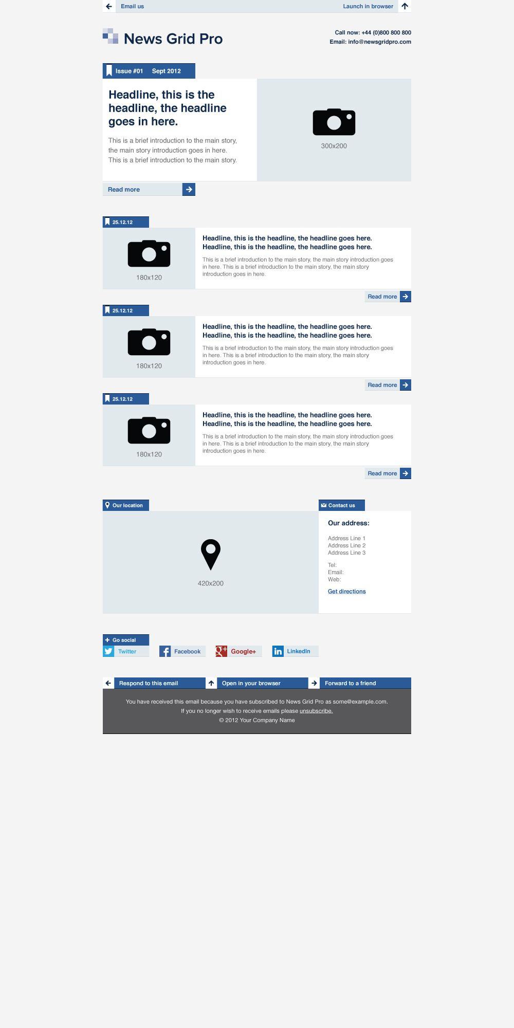 news grid pro email newsletter template pro grid news