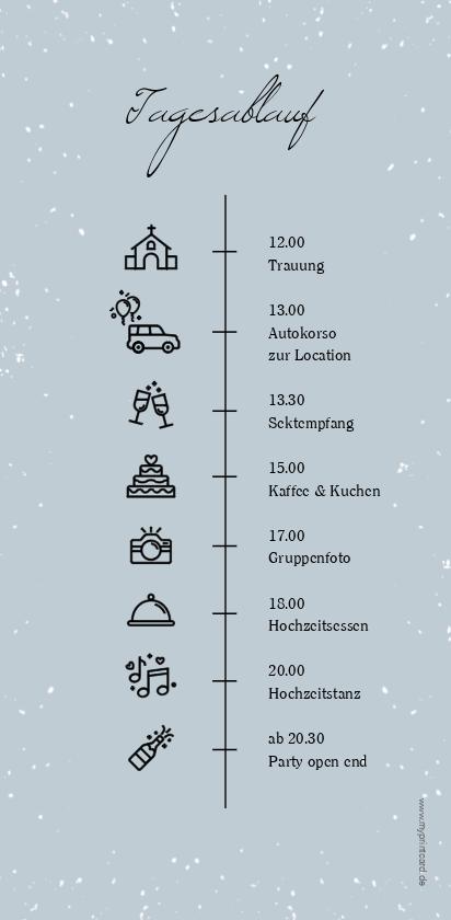 Winterhochzeit – Der Tagesablauf zur Hochzeit inforiert alle Gäste über de …