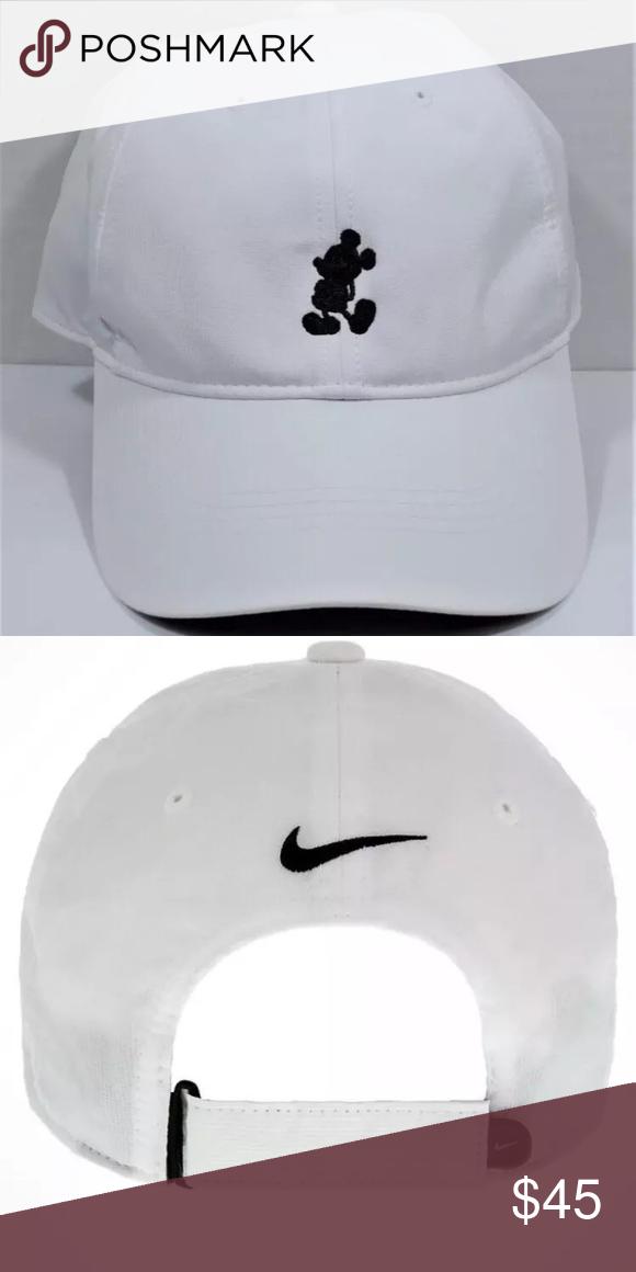 2ddcd4a7 ... france disney parks mickey nike hat nwt mickey baseball hat cap by nike  white brand new