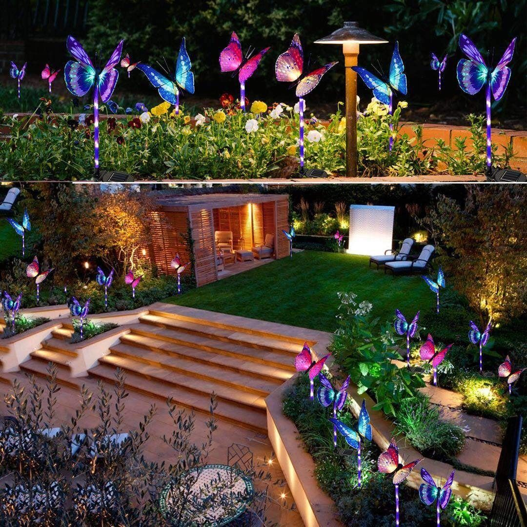 Garden Butterfly Decorative Lights Solar Lights Garden Led Garden Lights Solar Garden Stakes