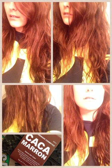 Lush S Henna Hair Dye Caca Marron Before And After Pictures My