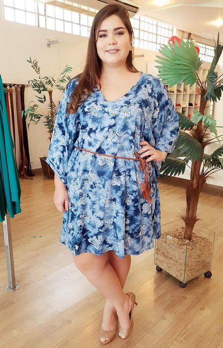 8222706be5 Vestido Cloe Blue Plus Size - Distrito Moda