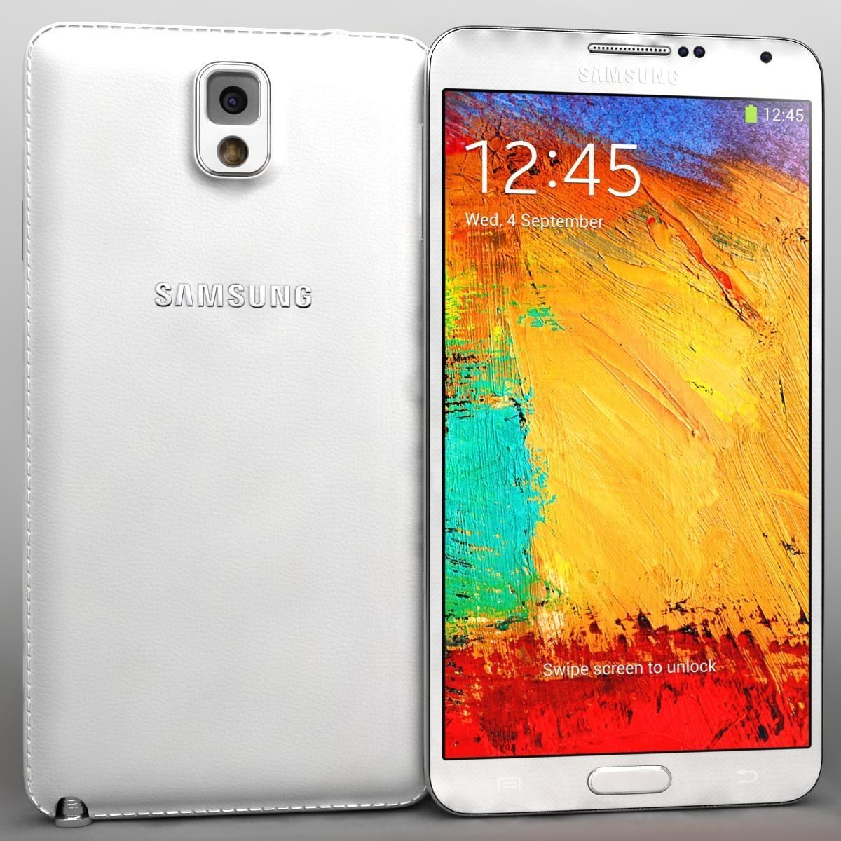 Samsung Galaxy Note 3 White 3d Model Ad Galaxy Samsung Note Model Samsung Galaxy Note Galaxy Note Galaxy Note 3