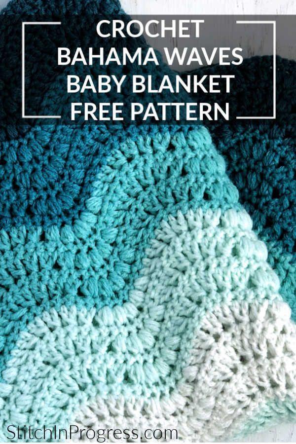 Heather Blue Chunky Crochet Baby Blanket Baby Shower Gift 29 x 35 Blue Baby Nursery Room Decor Chunky Blue Baby Afghan Throw