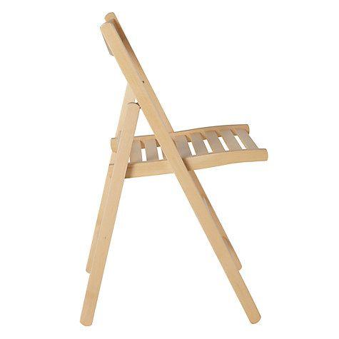 House by John Lewis Buiani Folding Chair, FSC-Certified ...