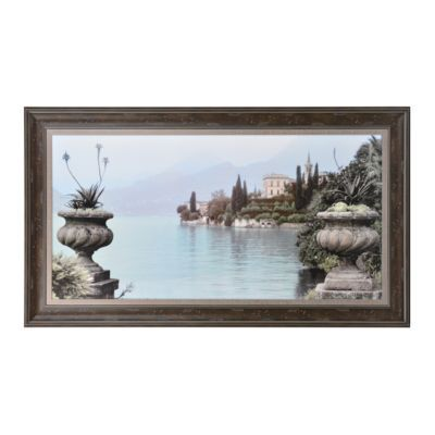 Lakeside Urns Framed Art Print | Urn