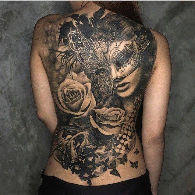 Hinh Xăm Kin Lưng Tattoos Full Back Beautiful Back Tattoos